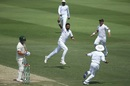 Bilal Asif is jubilant after dismissing Aaron Finch, Pakistan v Australia, 2nd Test, Abu Dhabi, 2nd day, October 17, 2018