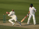 Nathan Lyon completes a stunning return catch to send back Fakhar Zaman, Pakistan v Australia, 2nd Test, Abu Dhabi, 2nd day, October 17, 2018