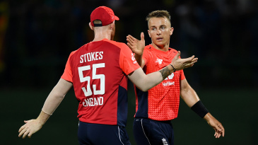 Tom Curran claimed the first wicket of Sri Lanka's innings