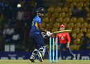 Sadeera Samarawickrama flicks the ball to leg, Sri Lanka v England, 3rd ODI, Pallekele, October 17, 2018