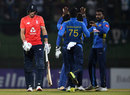 Amila Aponso struck twice early in the chase, Sri Lanka v England, 3rd ODI, Pallekele, October 17, 2018