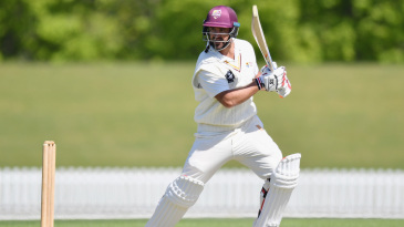 Colin de Grandhomme steers the ball into the off side