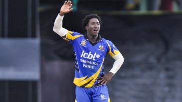 Hayden Walsh Jr appeals for a wicket