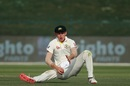 Marnus Labuschagne slips while fielding, Pakistan v Australia, 2nd Test, Abu Dhabi, 3rd day, October 18, 2018
