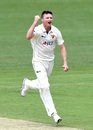 Jackson Bird celebrates a wicket, Queensland v Tasmania, Sheffield Shield 2018-19, Brisbane, 4th day, October 19, 2018
