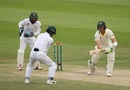 Marnus Labuschagne steers the ball past silly mid-off, Pakistan v Australia, 2nd Test, Abu Dhabi, 4th day, October 19, 2018