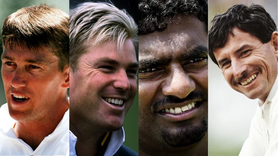 Composite: Glenn McGrath, Shane Warne, Muttiah Muralitharan and Richard Hadlee
