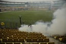 Time to clear the pests away at the Barsapara Stadium, October 20, 2018, Guwahati