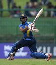 Dasun Shanaka pulls through the leg side, Sri Lanka v England, 4th ODI, Pallekele, October 20, 2018