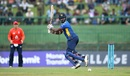 Thisara Perera plays behind square, Sri Lanka v England, 4th ODI, Pallekele, October 20, 2018