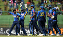 Akila Dananjaya celebrates after Jason Roy was given out on DRS, Sri Lanka v England, 4th ODI, Pallekele, October 20, 2018