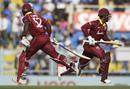 Rovman Powell and Shimron Hetmyer run between the wickets, India v West Indies, 1st ODI, Guwahati, October 21, 2018
