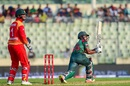 Imrul Kayes works one on the leg side, Bangladesh v Zimbabwe, 1st ODI, Mirpur, October 21, 2018