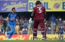 Yuzvendra Chahal celebrates a wicket, India v West Indies, 1st ODI, Guwahati, October 21, 2018