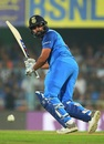 Rohit Sharma flicks the ball to the leg side, India v West Indies, 1st ODI, Guwahati, October 21, 2018