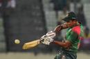 Mohammad Saifuddin plays a shot, Bangladesh v Zimbabwe, 1st ODI, Mirpur, October 21, 2018