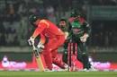 Brendan Taylor gets bowled, Bangladesh v Zimbabwe, 1st ODI, Mirpur, October 21, 2018