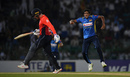 Kasun Rajitha bowled Jason Roy early in England's chase, Sri Lanka v England, 5th ODI, October 23, 2018