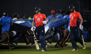 The covers were rushed on with England nine down, Sri Lanka v England, 5th ODI, October 23, 2018