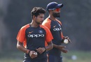 Kuldeep Yadav and Ravindra Jadeja train ahead of the second ODI, India v West Indies, 2nd ODI, Visakhapatnam, October 23, 2018
