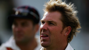 Shane Warne in action during the MCC v International XI Tsumani relief match at Lord's in June 2005