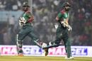 Liton Das and Imrul Kayes run between the wickets, Bangladesh v Zimbabwe, 2nd ODI, Chittagong, October 24, 2018