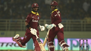 Shimron Hetmyer and Shai Hope shared a 143-run stand for the fourth wicket