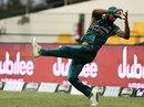 Hasan Ali takes a catch on the boundary, Pakistan v Australia, 1st T20I, Abu Dhabi, October 24, 2018