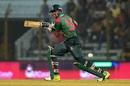 Soumya Sarkar works one on the off side, Bangladesh v Zimbabwe, 3rd ODI, Chittagong, October 26, 2018