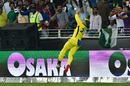 D'Arcy Short takes an acrobatic catch in the deep, Pakistan v Australia, 2nd T20I, Dubai, October 26, 2018
