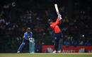 Jason Roy drives down the ground, Sri Lanka v England, only T20I, October 27, 2018