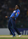 Amila Aponso claimed two wickets in an over, Sri Lanka v England, only T20I, October 27, 2018