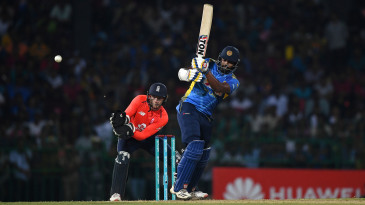 Thisara Perera kept his side in the hunt as the asking rate rose