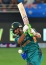 Sahibzada Farhan drills one down the ground, Pakistan v Australia, 3rd T20I, Dubai, October 28, 2018