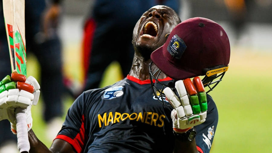 Carlos Brathwaite - will his voice be as powerful behind the mic as on the field?