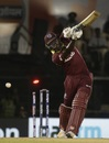 Rovman Powell is clean bowled by an inswinging delivery, India v West Indies, 4th ODI, Mumbai, October 29, 2018