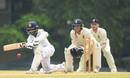 Kaushal Silva sweeps on the way to a half-century, Sri Lanka Board XI v England XI, Tour match, Colombo, 1st day, October 30, 2018