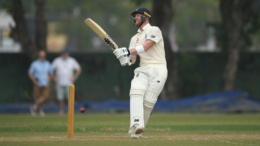 Ben Stokes was struck a painful blow while batting
