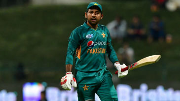 Sarfraz Ahmed is a picture of disappointment as he walks back