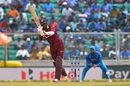 Marlon Samuels flicks through midwicket, India v West Indies, 5th ODI, Thiruvananthapuram, November 1, 2018