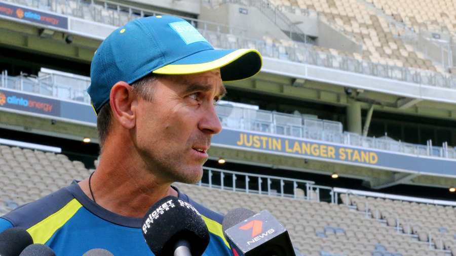 Justin Langer had a stand named after him at Perth Stadium