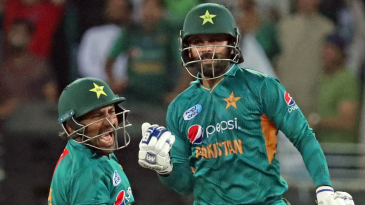 Mohammad Hafeez and Sarfraz Ahmed rejoice