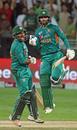 Mohammad Hafeez and Sarfraz Ahmed rejoice, Pakistan v New Zealand, 2nd T20I, Dubai, November 2, 2018