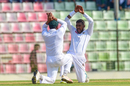Nazmul Islam breaks into the naagin dance for the first time in his Test career, Bangladesh v Zimbabwe, 1st Test, Sylhet, 1st day, November 3, 2018
