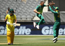 Dale Steyn celebrates removing D'arcy Short, Australia v South Africa, 1st ODI, Perth, November 4, 2018