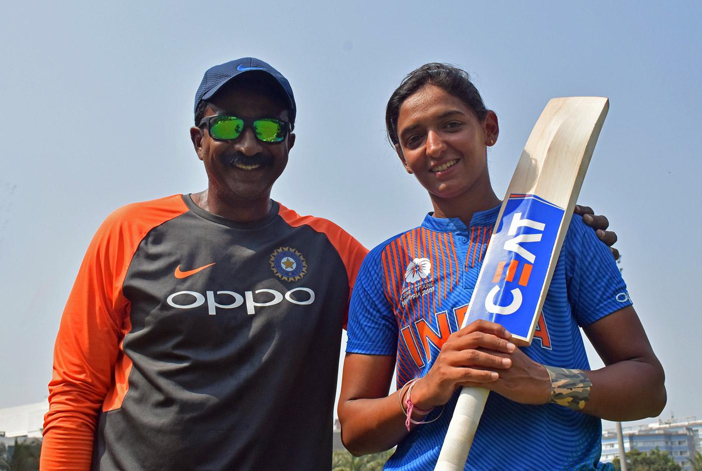 With fielding coach Biju George in Mumbai last month