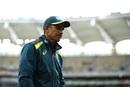 A dejected Justin Langer walks back after the match, Australia v South Africa, 1st ODI, Perth, November 4, 2018