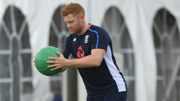 Jonny Bairstow was back in training after an ankle injury