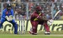Carlos Brathwaite was out attempting a sweep off Kuldeep Yadav, India v West Indies, 1st T20I, Kolkata, November 4, 2018