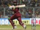 Debutant Fabian Allen top-edges a pull, India v West Indies, 1st T20I, Kolkata, November 4, 2018